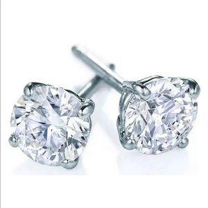 Diamond ROUND 100% NATURAL 14K SOLID WHITE GOLD